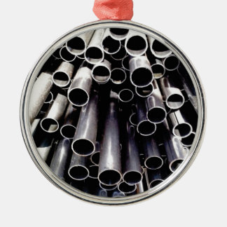 metal tube ends metal ornament