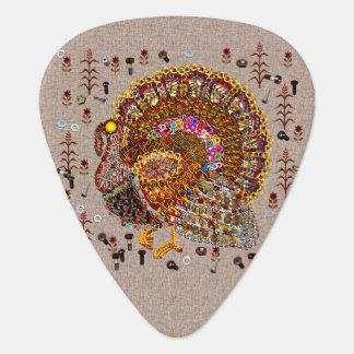 Metal Turkey Guitar Pick