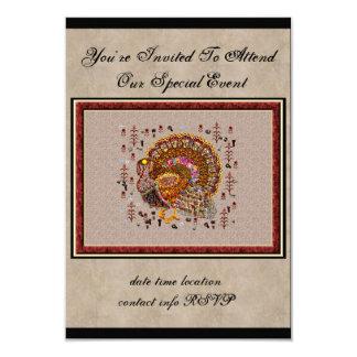 Metal Turkey 3.5x5 Paper Invitation Card