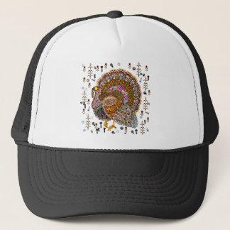 Metal Turkey Trucker Hat