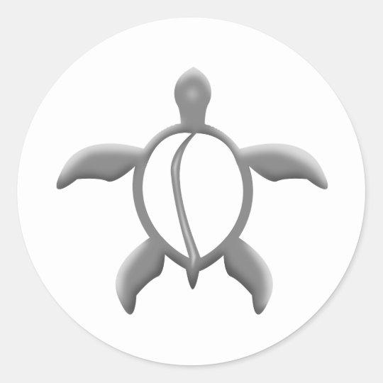metal turtle classic round sticker