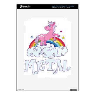 Metal Unicorn iPad 3 Decal