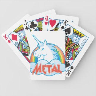 metal-unicornio baraja de cartas bicycle