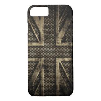 Metal Union Jack del Grunge Funda iPhone 7