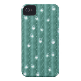 Metal verde con gotas de lluvia iPhone 4 Case-Mate cárcasas