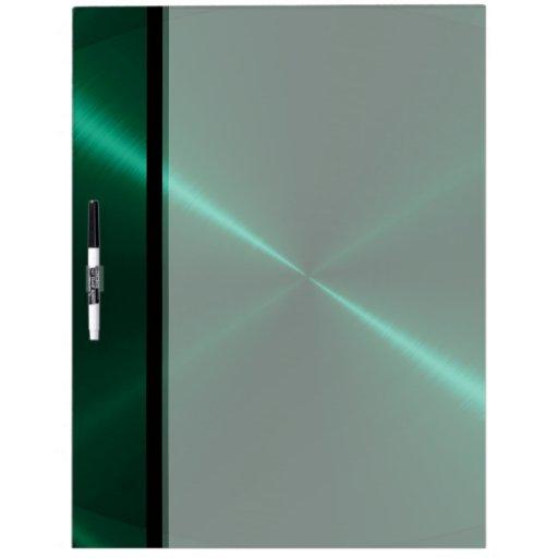 Metal verde fresco del acero inoxidable pizarra blanca