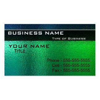 Metal verde y azul brillante genérico tarjetas de visita