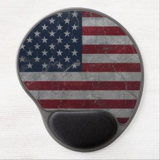 Metal Vintage Grunge American Flag Gel Mouse Pad