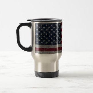 Metal Vintage Grunge American Flag 15 Oz Stainless Steel Travel Mug
