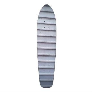 Metal wall skate board deck