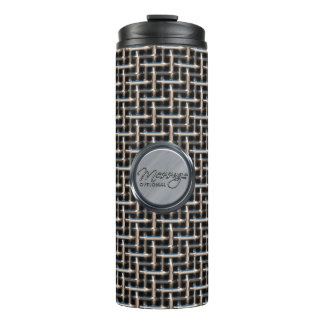 Metal Weave 2 Options Thermal Tumbler