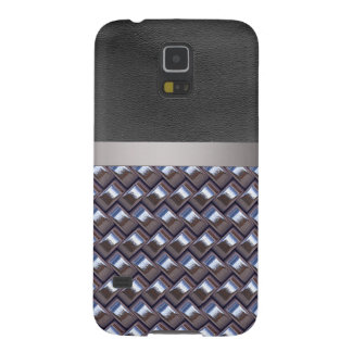 metal Weave blue (I) Case For Galaxy S5