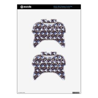 metal Weave blue (I) Xbox 360 Controller Skin
