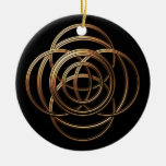 Metal Weave Christmas Ornament
