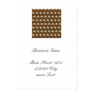 metal Weave golden (I) Card