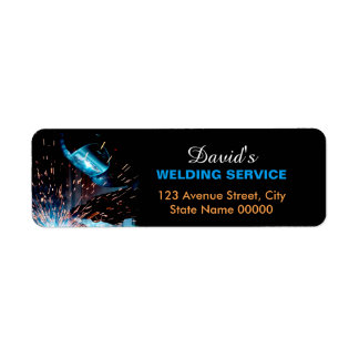 Metal Welding Fabrication Address Label