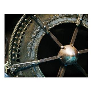 Metal wheel postcard