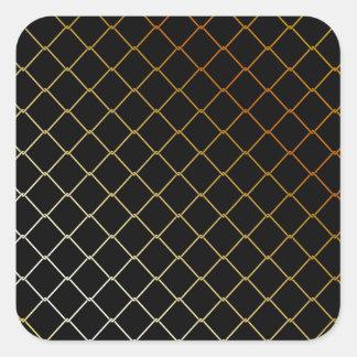 metal wire background square sticker