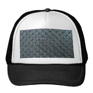 metal wire iron steel glass net texture background trucker hat