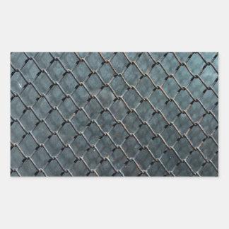 metal wire iron steel glass texture background rectangular sticker