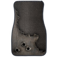 Metal with bullet holes background floor mat