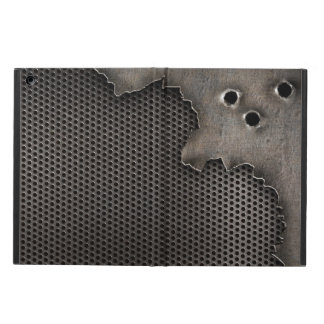 Metal with bullet holes background iPad air cover