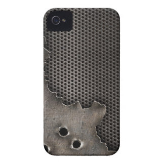 Metal with bullet holes background iPhone 4 cover