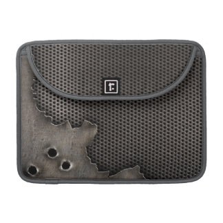 Metal with bullet holes background MacBook pro sleeve