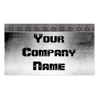 Metal With Rivets Border Business Cards