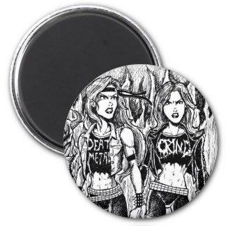 Metal Women 2 Inch Round Magnet