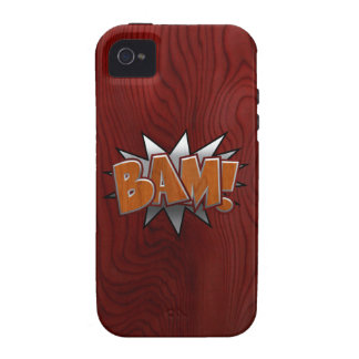 Metal-Wood-BAM! Case-Mate iPhone 4 Cases