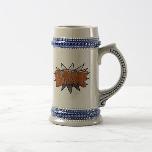Metal-Wood-BAM! Coffee Mugs