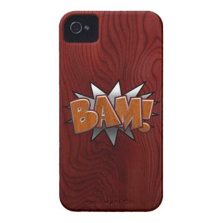Metal-Wood-BAM! iPhone 4 Case
