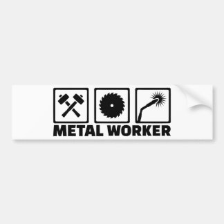 Metal worker bumper sticker