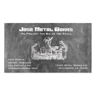 Metal Workers Business Card Templates