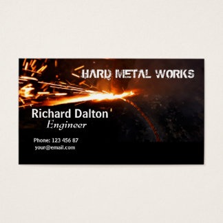 Metal works business card