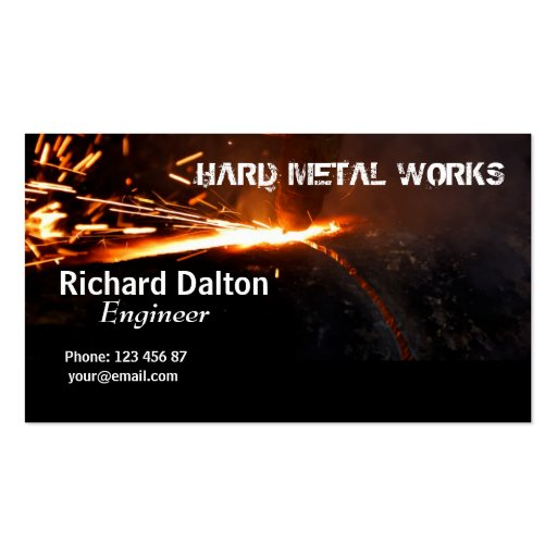Metal works Double Sided standard business cards Pack of