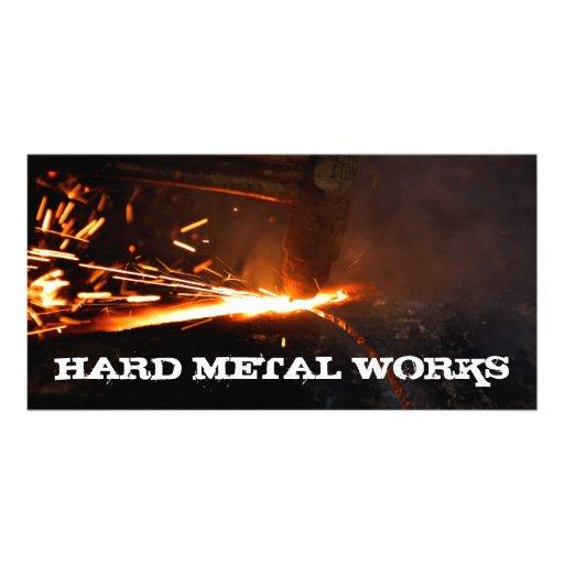 Metal works card