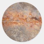 Metal y hormigón aherrumbrados etiqueta redonda