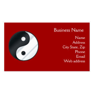 Metal Yin Yang Business Card