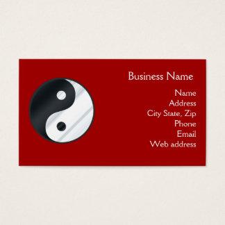 Metal Yin Yang Business Card