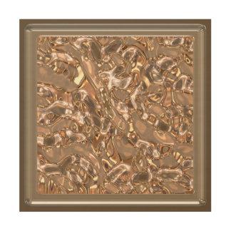 MetalArt liquid texture (I) Wood Wall Art
