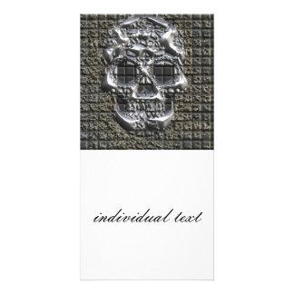 MetalArt Skull Photo Card