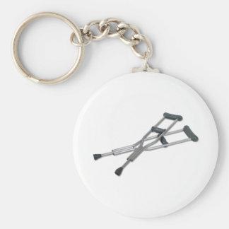 MetalCrutches082010 Basic Round Button Keychain