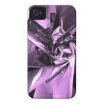 Metales de la púrpura Case-Mate iPhone 4 cobertura