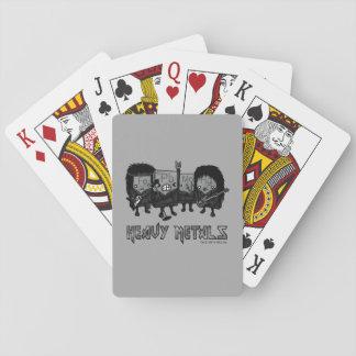 Metales pesados barajas de cartas