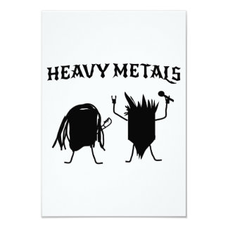 Metales pesados invitación 8,9 x 12,7 cm