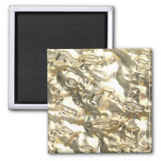 Metales preciosos - crudos imanes de nevera