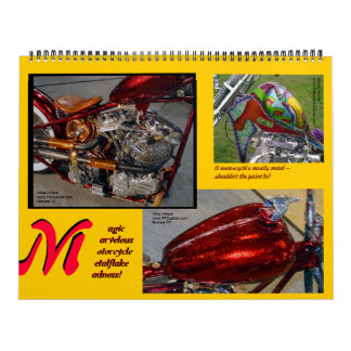 Metalflake Madness Huge Size Motorcycle Paint 2014 Calendar
