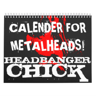 Metalhead Calender Calendar
